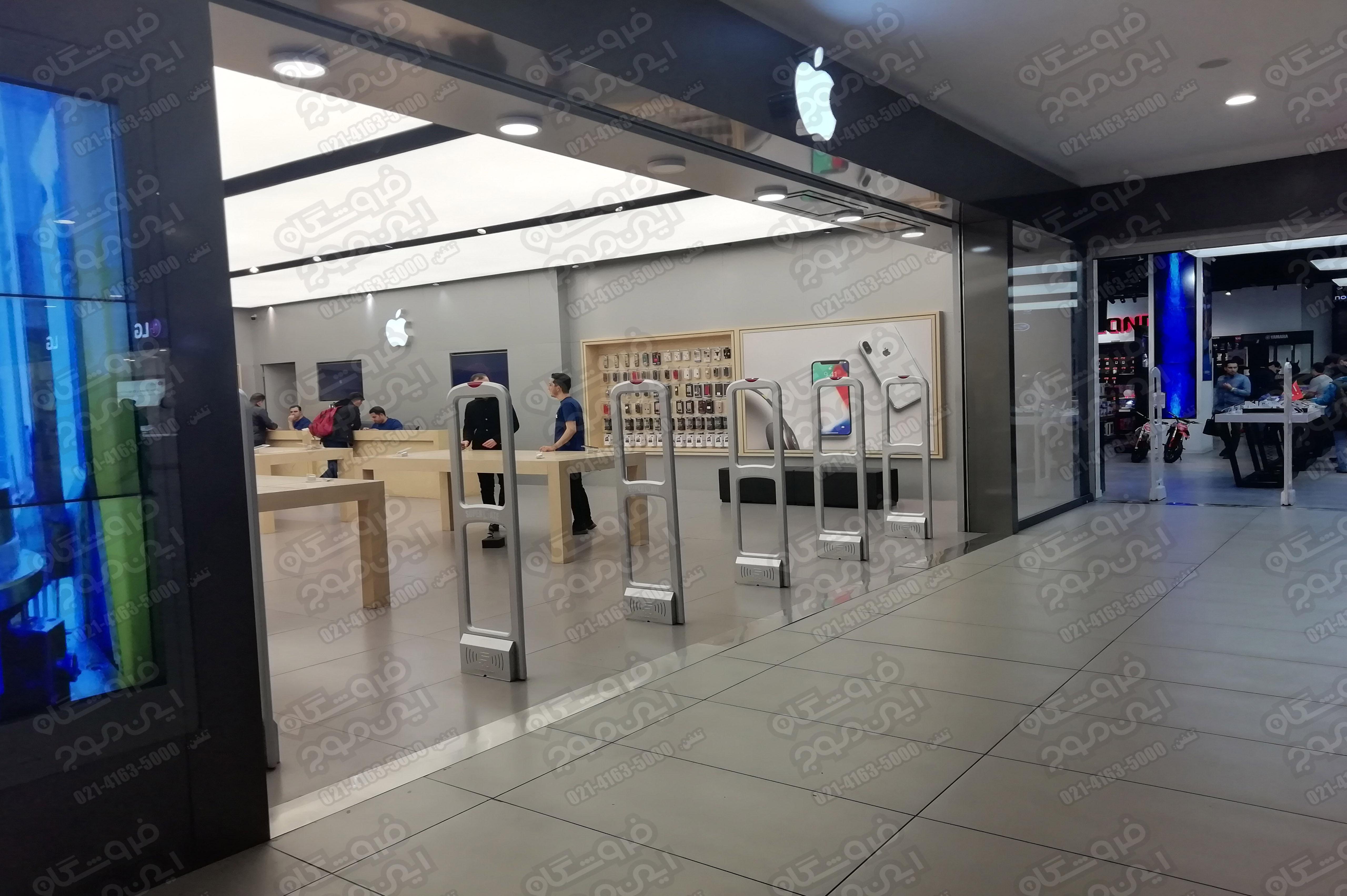 گیت-فروشگاهی-سوپر-گیت-نصب-شده-در-فروشگاه-بزرگ-سیب-طلایی-هوشمند